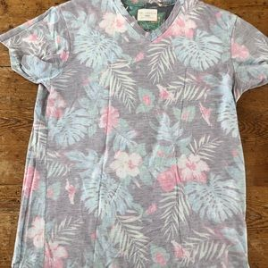 Sol Angeles Floral Aloha v-neck tee